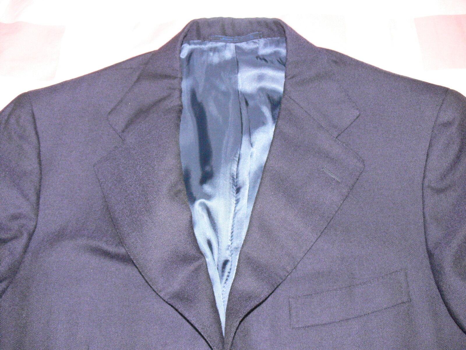 Isaia Napoli Navy Blazer 0 Cashmere