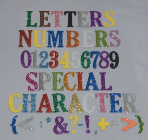 Large 5 CM//2 INCH  Self adhesive glitter foam NUMBERS /& LETTERS alphabet