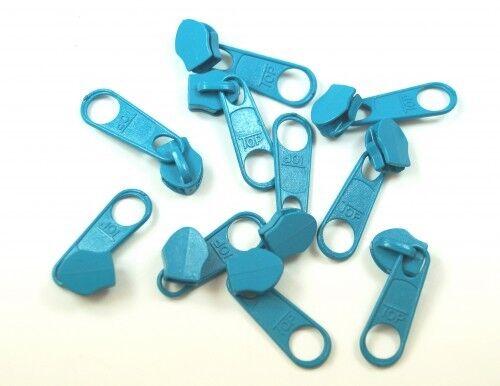 Türkis Farbe 10 Stück Zipper für 5mm Reißverschlüsse