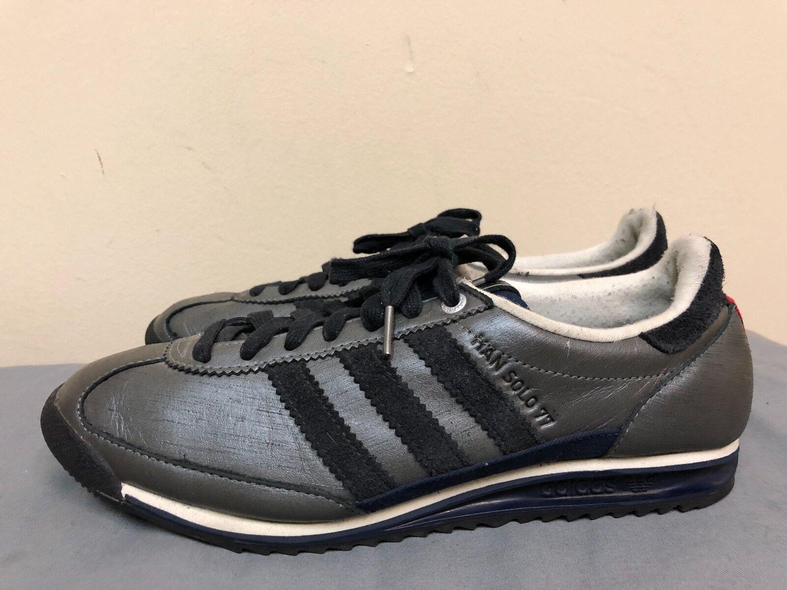 Star wars - adidas uomini han solo 77 dimensioni uomini scarpe da tennis dimensioni 77 noi 9 - grigio / nero / marina 4bb86e