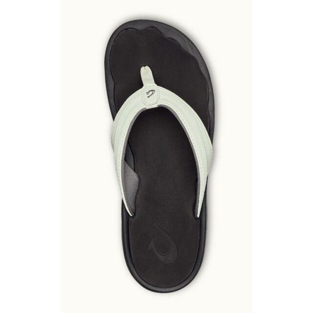 OluKai Womens Sandals Ohana White Black
