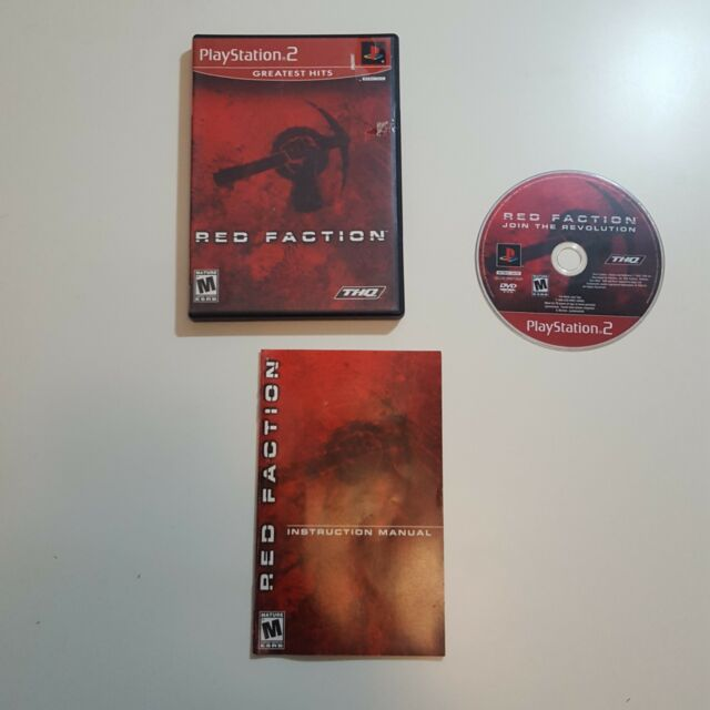 Red Faction Greatest Hits (Sony PlayStation 2, 2002) Shooter Video Game Mature