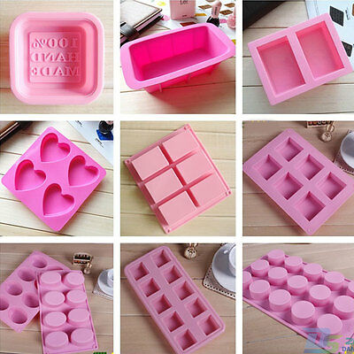 DIY Silicone Soap Mold Handmade Cake Chocolate Baking Tool Ice Tray Candle Maker