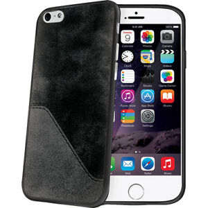 Celly-Faux-Leather-Casual-Sophisticated-Soft-Rubber-Case-iPhone-6-6s-Plus-5-5-034
