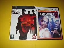 Dos juegos PC KANE & LINCH 2 + THE GODFATHER II buen estado