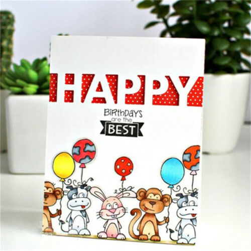 Happy Letters Metal Die Cuts For DIY Scrapbooking Photo Album Decor Crafts~~