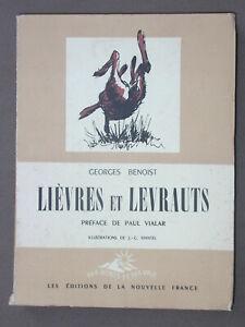 Lièvres et levrauts - G. Benoist - 1946 illustré par Mantel - Chasse et élevage