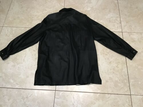 Men's Leather Shirt  Long Sleeve Shirt pre owned s