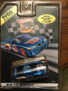 TYCO 440-X2 HOT WHEELS 30th PONTIAC GRAND PRIX BLUE CHROME HO Slot CAR #36090