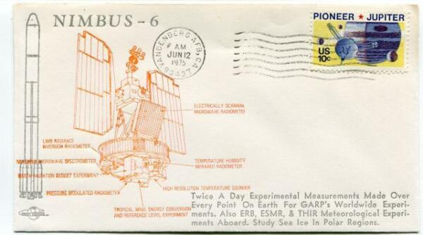 1975 Nimbus-6 Earth Experiments Polar Regions Vandenberg Air Force Base Usa Sat Prix RéDuctions