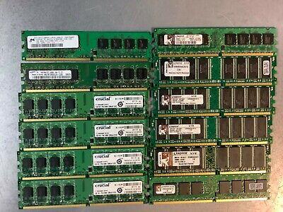 1GB PC2-5300U DDR2 DESKTOP MEMORY LOT OF 4 PIECES MISC MIX VARIOUS MFG 4GB