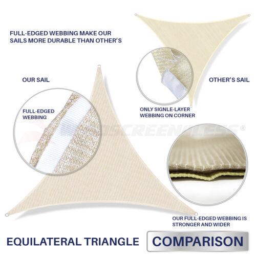 Triangle Sun Shade Sail Turquoise Permeable UV Block Outdoor Canopy Pool Patio