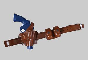 KB30638 Combo 357 Magnum Panqueque Funda Open-End & Speedloader doble Estuche Y Correa