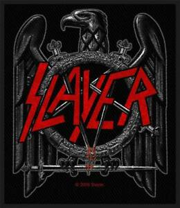 OFFICIAL-LICENSED-SLAYER-BLACK-EAGLE-WOVEN-SEW-ON-PATCH-THRASH-METAL