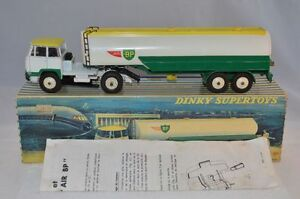 Dinky-Toys-887-UNIC-Tractor-with-Air-BP-Tankwagen-near-mint-in-box-with-leaflat