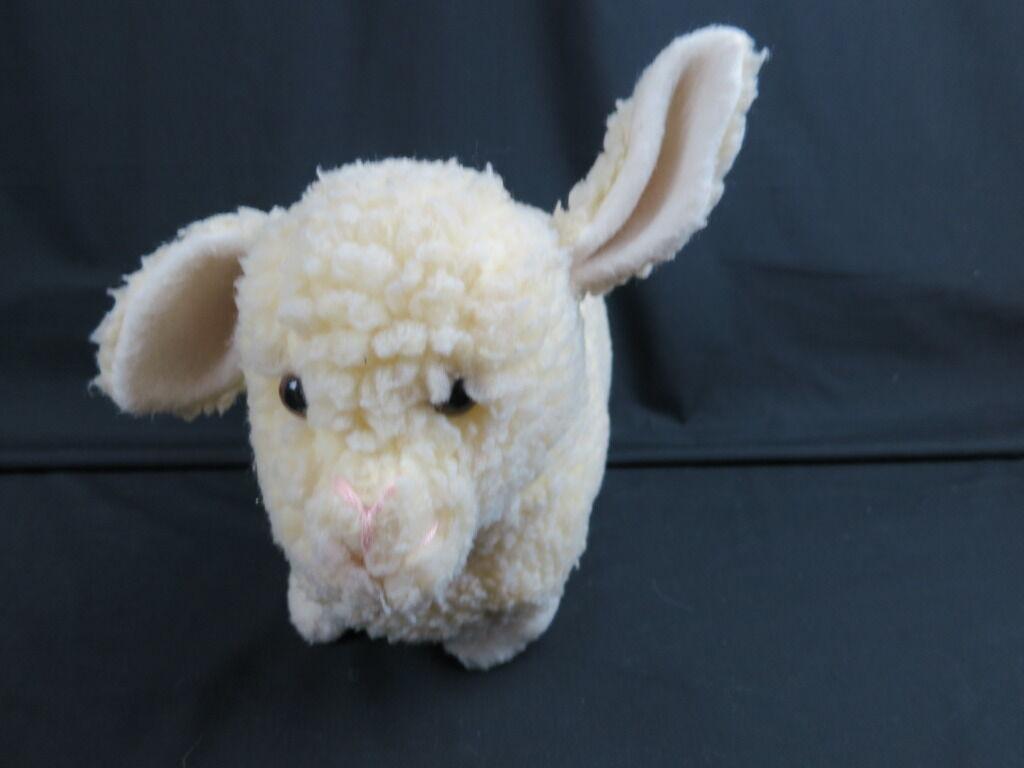 BIG VINTAGE EDEN SHEEP LAMB CREAM  braun EYES PLUSH STUFFED ANIMAL SOFT TOY RARE