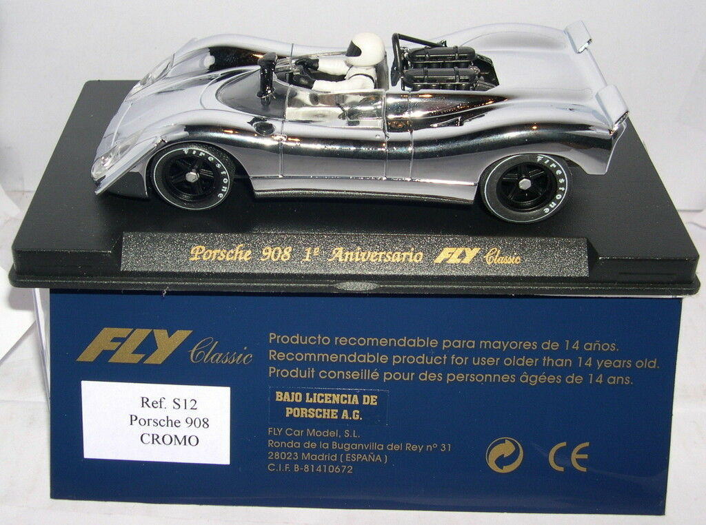 FLY S12 PORSCHE 908 1ºANNIVERSARY FLY CLASSIC CROMO LTED. EDITION MB