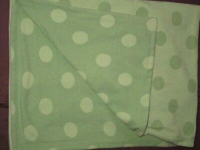 Amy Coe Green Fleece Dotty Polka Dot Baby Blanket Boy Girl