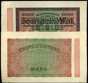ALLEMAGNE  20000 MARK 1923  ( billets neuf )