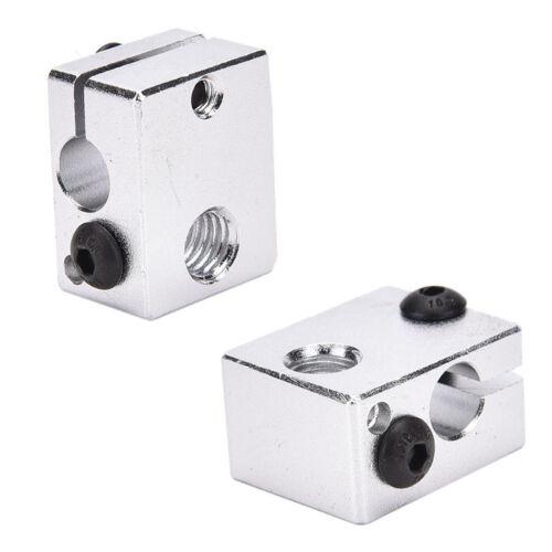Aluminium Heat Block For 3D Printer V6 J-head Makerbot MK7//MK8 Extruder'
