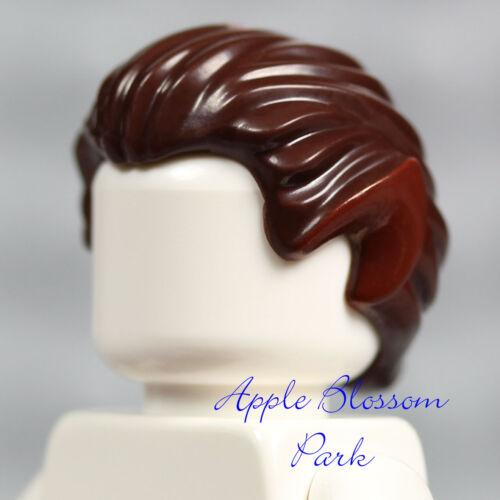 NEW Lego Minifig Dark BROWN WEREWOLF HAIR Halloween Wolf Head Gear w//Pointy Ears
