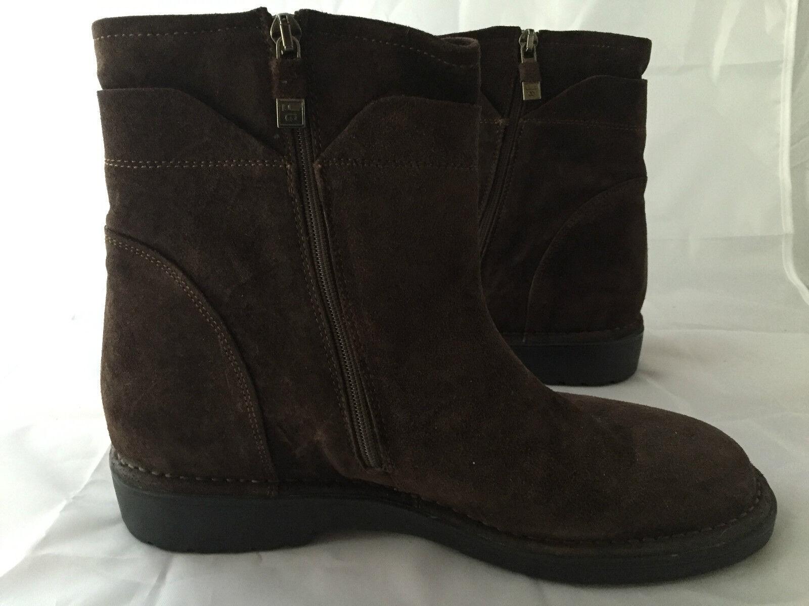 NEW Alberto Fermani Brown Suede Ankle Boot, 2 Zips, Women Size 39 (9 US), 525