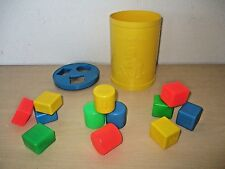 VINTAGE 1977 FISHER PRICE *BABY'S FIRST BLOCKS* SHAPE SORTER #414 COMPLETE.