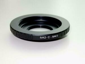 M42 / C Mount Lens to Micro 4/3 MFT M43 Mount Adapter Dual Purpose M42CM43(L)
