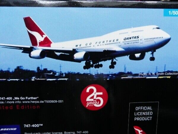 1 500 Herpa Qantas Boeing 747-400 We Go Further 500609-001