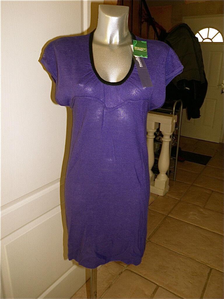 Kleid lilat Hanf Kanabeach Biologik Ozco T 38 Neue Etikett Wert