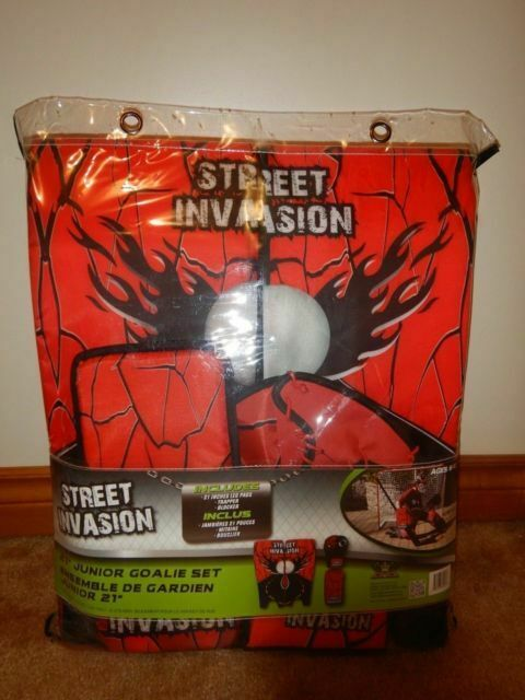 "New Street Invasion junior street 21/"" pads//gloves set hockey goalie equipment"