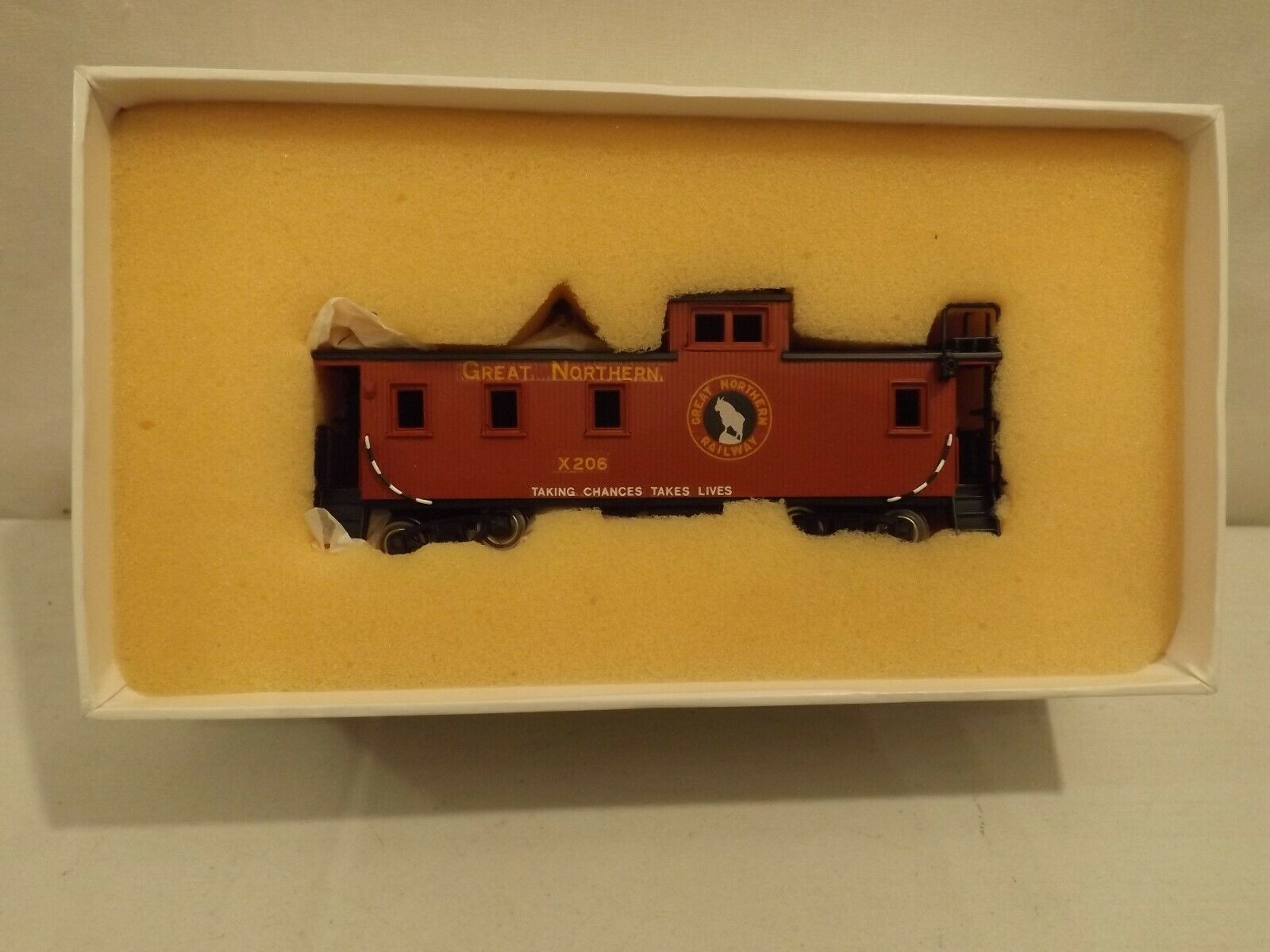 HO PFM brass Great Northern X200-X228 wood caboose in original box