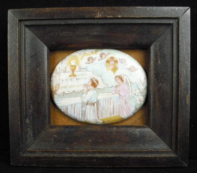 Porcelana esmaltado miniatura decoración religiosa en el sabor de Maurice Denis