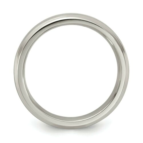 Details about  /Edward Mirell Grey Titanium 4mm Brushed Beveled Edge Wedding Band Sizes 5 to 12