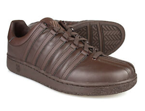 Image is loading K-Swiss-Classic-VN-Brown-Mens-Leather-Trainers 57b8af6af