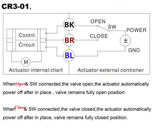 "New G1/"" DN25 Brass 3 Way 220VAC Motorized Ball Valve L Type Electrical Valve"