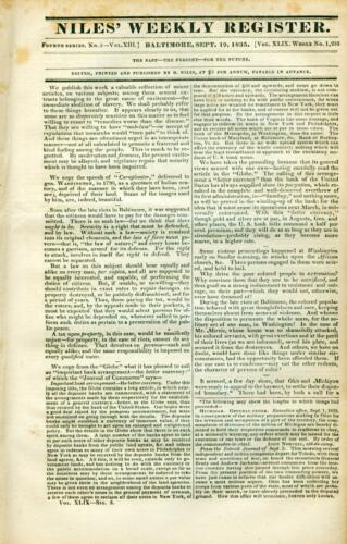 Newspaper American Fur Co Brandenburg Seneca Chief Corn Planter Rothchild 1835