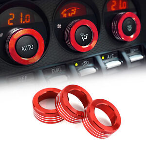 Air Conditioner Switch Knob Ring AC Knobs Cover Fits For Subaru BRZ Toyota 86 T9
