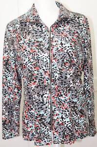 Jacket Exclusively Print Splatter Misook Sequin Wet Størrelse Ryd Look Small xwqBTcfFw
