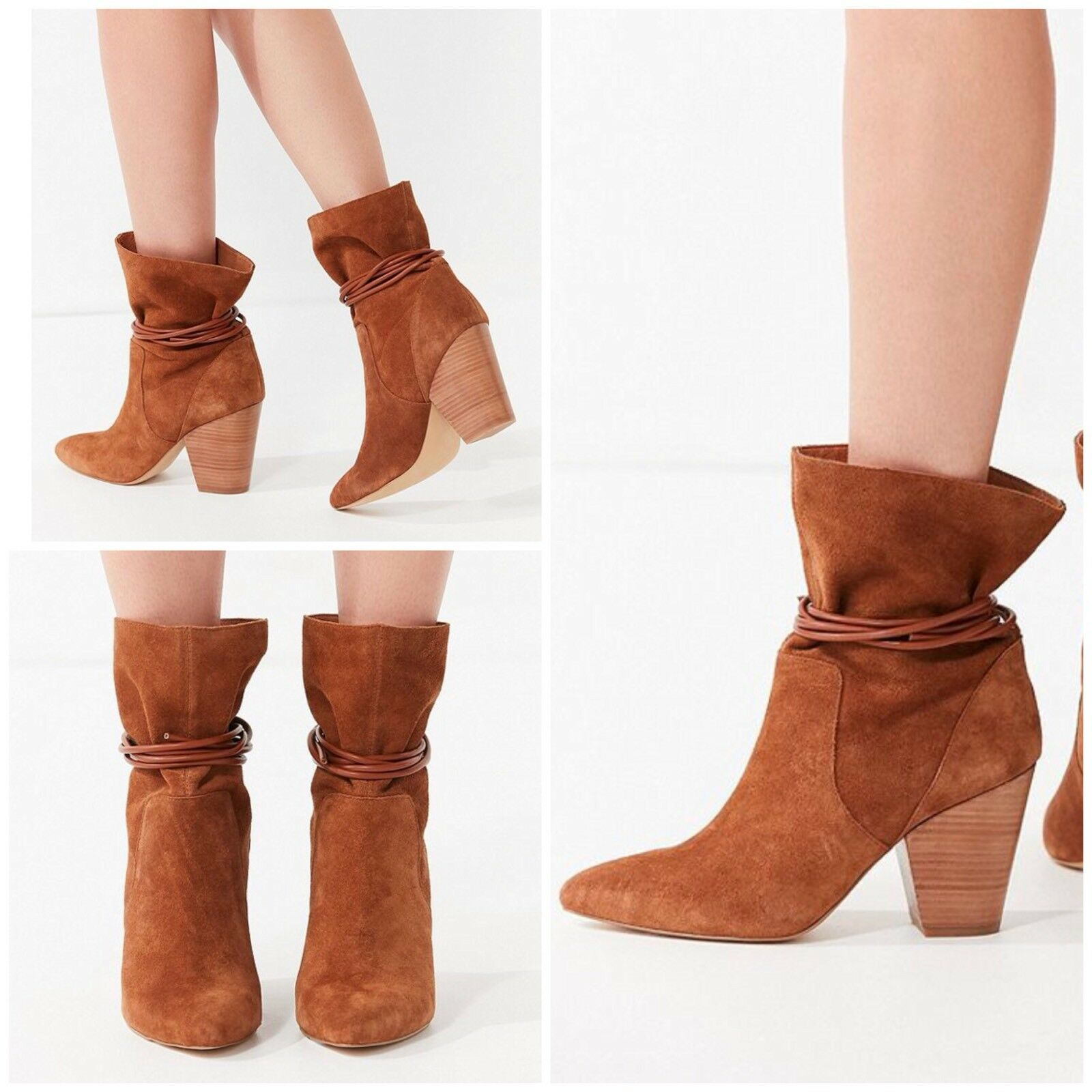 Urban Outfitters Carla Slouch Suede Ankle Stiefel Größe 8 New