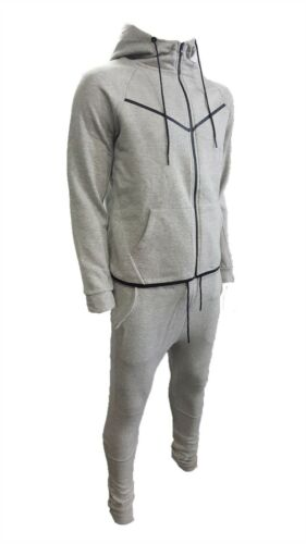 NEW Mens Contrast Piping Tracksuit Sweat Top /& Slim Fit Jog Track Pants S-XL