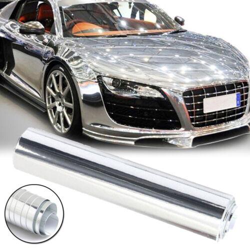 Chrom Auto Car Wrap Folie BLASENFREI Spiegel Folie Glanz Blasenfrei 20 X 152CM