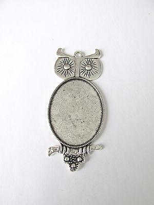 glass jewellery making craft UK PC32.10pc cabochon bezel heart pendant setting