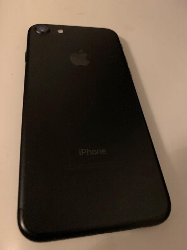 iPhone 7, 256 GB, sort