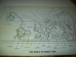 1969 ford bronco wiring wireing diagram 11x17 oversized. Black Bedroom Furniture Sets. Home Design Ideas