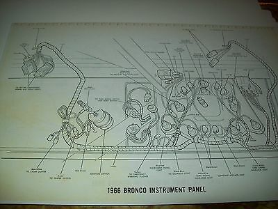 1969 Ford Bronco Wiring Wireing Diagram 11X17 oversized ...