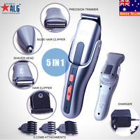 5 In 1 Mens Electric Razor Shaver Cordless Hair Clipper & Nose Trimmer