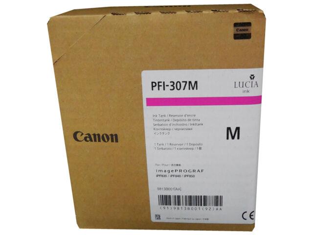 Genuine  Canon PFI-307M Magenta Cartridge (330 mL) for For iPF830 iPF840 iPF850