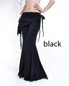 Hot-Belly-Dance-Costume-Cotton-Tribal-Yoga-Pants-Black
