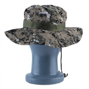 6039324f8f0 Military Army Jungle Camo Boonie Bucket Cap Hat Fishing Camping ...